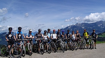 Danish Mountainbike Club at the Hohe Salve Mountain
